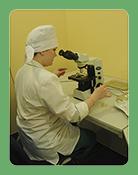 Сотрудник микробиологической лаборатории Научной компании Фламена проводит исследование опытных образцов